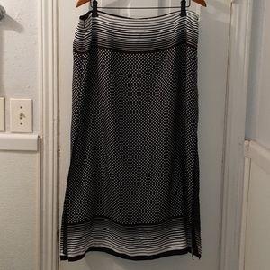 Anne Klein Silk Maxi Skirt